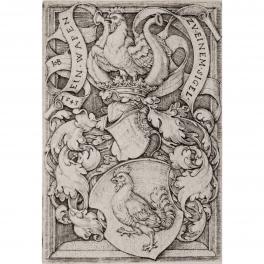 Escudo heráldico con gallo