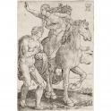 Mujer raptada por un sátiro a caballo