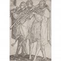 Tres músicos tocando los trombones