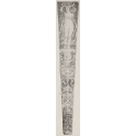 Scabbard design with a winged female figure