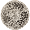 Design for an engraved tazza with a portrait of William I of Orange as Commander of Wisdom