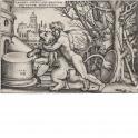 Hercules luchando contra el león de Nemea