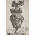 Vase with a grotesque heead and a secene of a battle of ichthyocentaurs