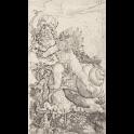Cupido montado sobre un caracol