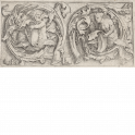 Ornament with Triton and Siren in Tendrils