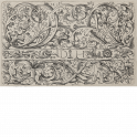 Three horizontal leaf ornament friezes