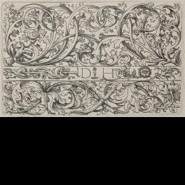 Tres frisos ornamentales con hojas de cardo