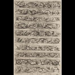 Diez frisos ornamentales con distintos diseños