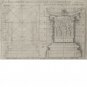 Design for the base and capital of a Corinthian column