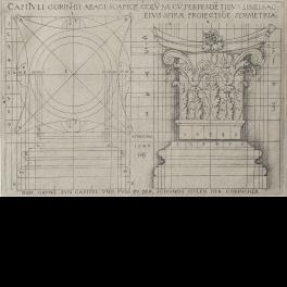 Diseño de capitel y basa de orden Corintio