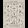 Panel ornamental de grutescos con Baco flanqueado por dos sátiros arrodillados
