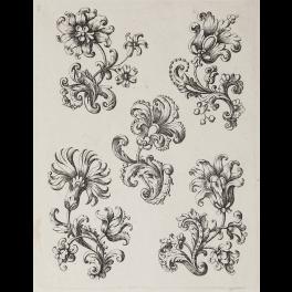 Cinco diseños con flores estilizadas para bordado