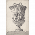 Vase decorated with Bucranium handles and putti holding festoons