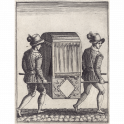 Lady in a sedan chair
