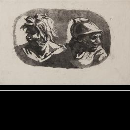 Dos cabezas de guerreros antiguos